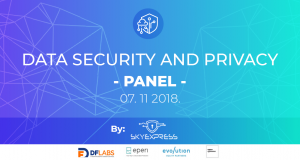 """Panel diskusija """"Data security and privacy"""""""